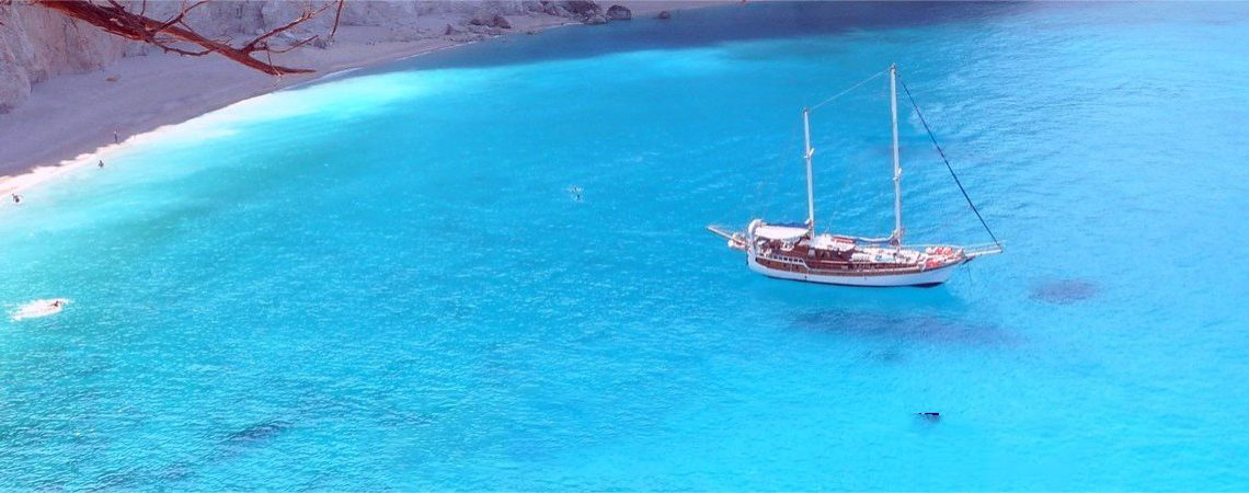 Wooden yacht vacations in Greece