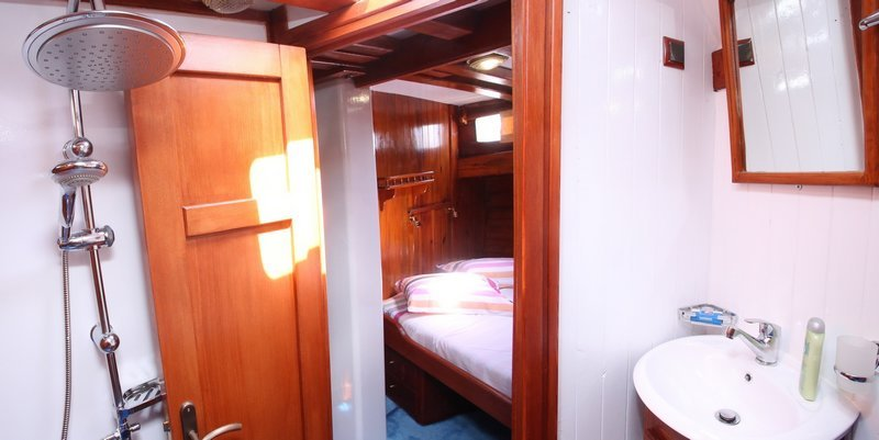 Showers on Greek yacht charters