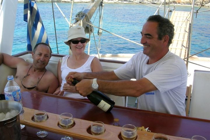 Greek charter yacht crew