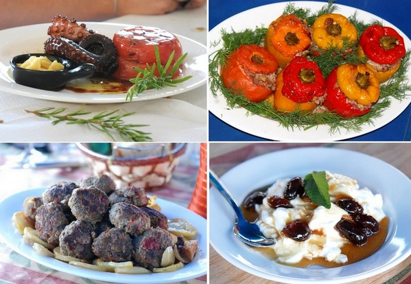 Greek food on a yacht charter