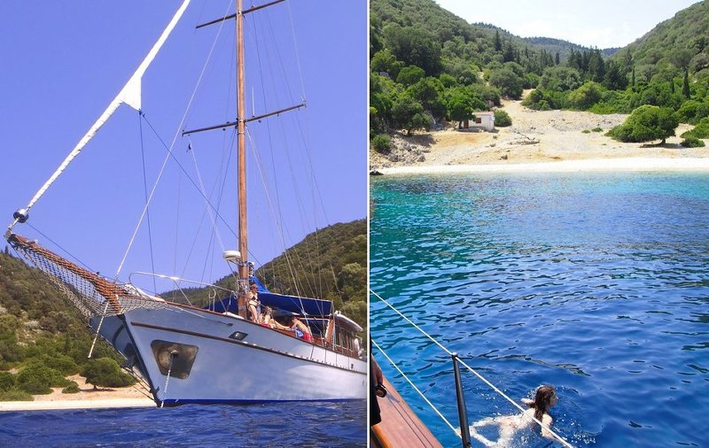 Secluded Greek bays