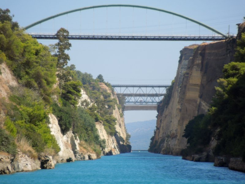 Corinth Canal in a yacht